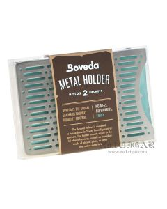 Boveda Metal Holder For Humidor: Holds 2 Boveda 60 Gram